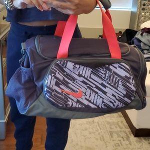 Nike Duffle Bag Purple Neon Orange Swoosh